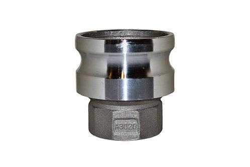 """Jumpsize Camlock - 3"""" Male Camlock X 2"""" Female Pipe - Aluminum - 3020A"""
