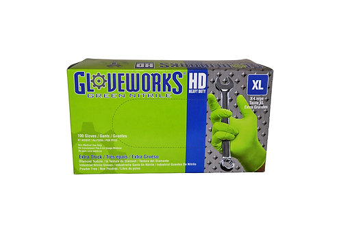 Gloveworks - Heavy Duty - Green Nitrile - 8 mil - XL