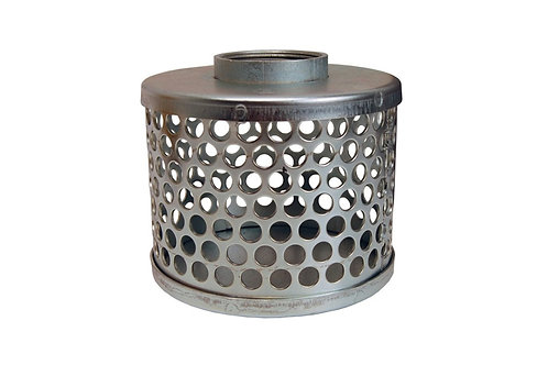 """Strainers - Standard - Round Hole - 6"""" NPSH - 304 Stainless Steel"""