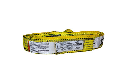 """Lifting Web Sling - 2"""" x 14 FT - One Ply - Flat Eye - Type 3 - Polyester"""