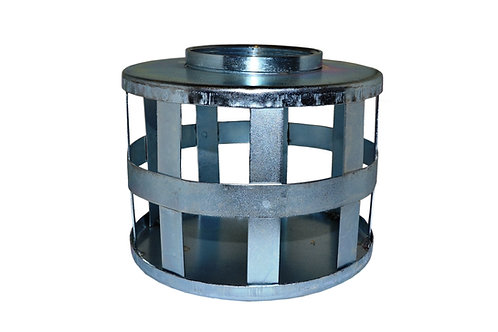 """Strainers - Standard - Square Hole - 2"""" NPSH - Zinc Plated"""