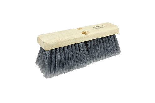 "Bus Brush - 10"" Block - Flagged Silver Gray Polystyrene Fill - 70312"