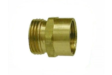 "Garden Hose Fitting - Rigid - 3/4"" Male GHT x 3/8"" Female Pipe - Brass"