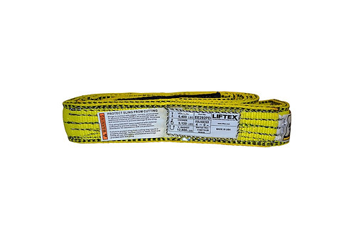 "Lifting Web Sling - 2"" x 4 FT - Two Ply - Flat Eye - Type 3 - Polyester"