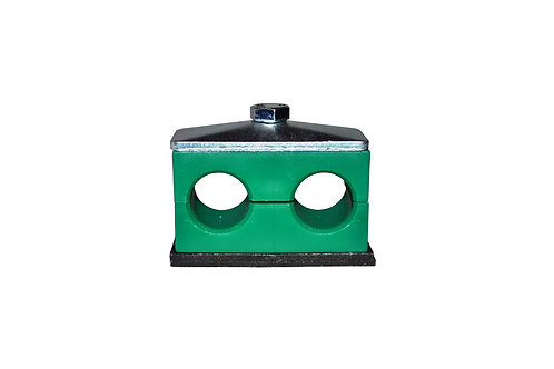 """Hose and Tube Clamp - 3/8"""" Tube - Weld On - Twin Series - AT1-9.5-A"""