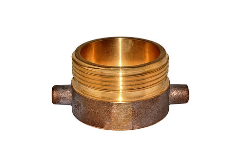 "Fire Hydrant Adapter - 1-1/2"" Female NST/NH x 2-1/2"" Male NST/NH - Brass"
