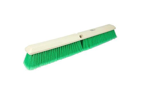"Floor Brush - Perma-Sweep - 24"" Block - Flagged Green Polystyrene Fill - 42164"