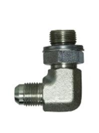 "Hydraulic Adapter - 90° Male Elbow - 3/8"" Tube Male JIC x 1/4"" Male BSPP Elbow"