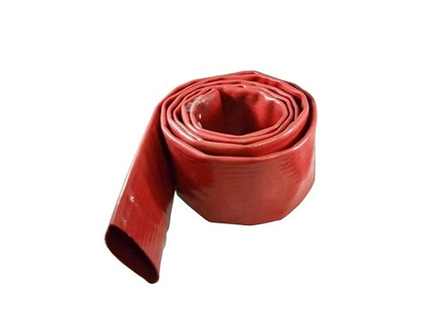 """Water Discharge Hose - 1-1/2"""" x 50 FT - Without Fittings - Red"""