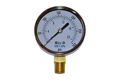 """Utility Dry Gauge - 2-1/2"""" - 0 to 300 PSI - LM 1/4"""" NPT"""