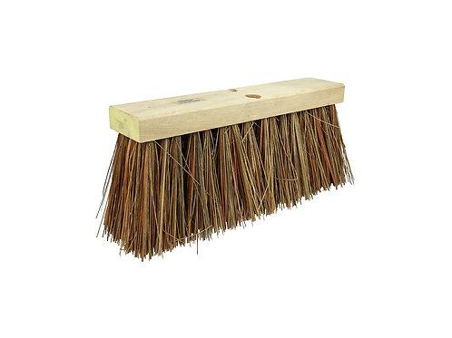 "Street Broom - 16"" Block - 6-1/4"" Trim Length - Bass & Palmyra Fill - 42032"