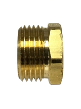 "Garden Hose Fitting - Rigid - 3/4"" Male GHT x 1/2"" Female Pipe - Brass"