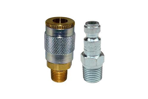"""Automotive Tru-Flate - 1/4"""" Coupler - 1/4"""" Plug - 1/4"""" Male Pipe"""