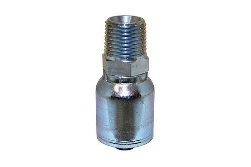 "Hydraulic Crimp Fitting - 1/2"" Male Pipe Thread x 3/8"" Hose Barb - E203"