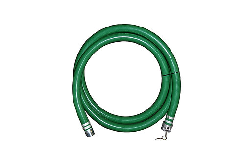 """PVC Green Standard Suction Hose - 1-1/2"""" x 20' - Conventional Style Assembly"""
