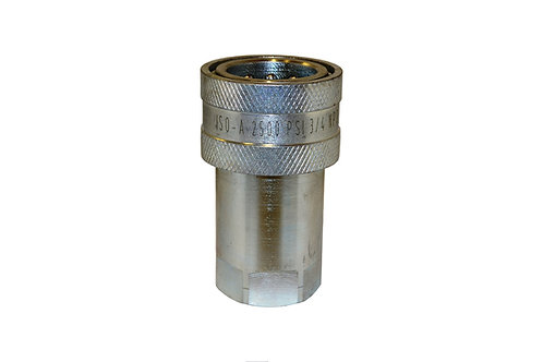 """Hydraulic Quick Coupler - ISO 7241-1 A - 3/4"""" NPT - Female Coupler - 6600 Series"""