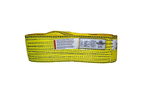 """Lifting Web Sling - 4"""" x 14 FT - Two Ply - Flat Eye - Type 3 - Polyester"""