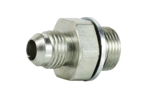 """Hydraulic Adapter - Male Connector - 1/2"""" Tube Male x 3/4"""" BSPP Male"""