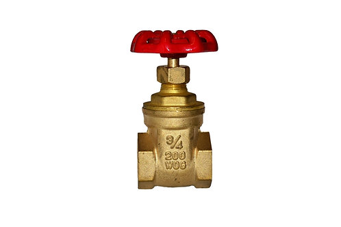 "Gate Valve - 3/4"" - Full Port - Brass"
