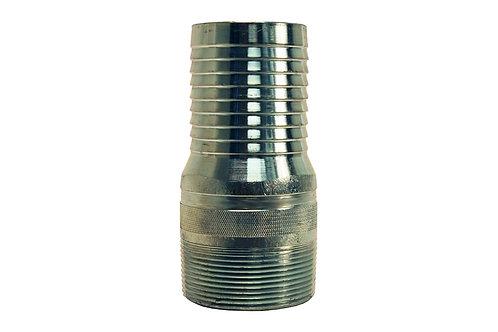 "King Nipple - Combination - 5"" - NPT Threaded - Steel Plated"