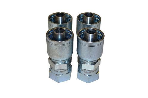 "Hydraulic Crimp Fitting - 3/4"" Female Seal-Lok x 3/4"" Hose Barb - E205 4 pack"