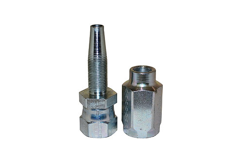 "Hydraulic Fitting - Reusable - 1/2"" Hose I.D. x 3/8"" Female JIC - 100R2AT Hose"