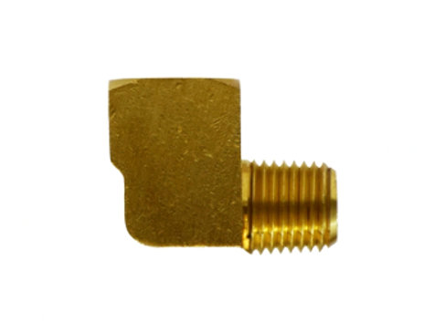 """Pipe Fitting - 90° Street Elbow - 3/8"""" Female Pipe x 3/8"""" Male Pipe - Brass"""