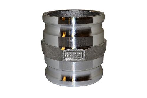 "Camlock - 4"" Male to 4"" Male Camlock Spool Adapter - Aluminum - 40X40SA"