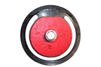 "Foot Valve - Flapper Assembly - 2-1/2"" - Cast Iron - Red"