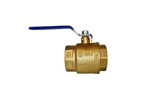 "Ball Valve - Full Port - 4"" - Female Threads - Brass"