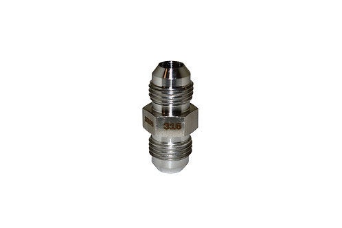 "Hydraulic Adapter - Male Union - 1/4"" Male JIC x 1/4"" Male JIC - Stainless Steel"