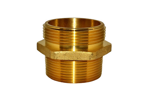 "Fire Hydrant Adapter - 2-1/2"" Male NPT x 2-1/2"" Male NST/NH - Brass"