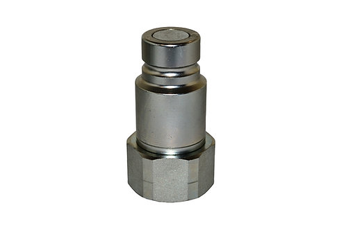 "Hydraulic Quick Coupler - ISO 16028 - Flat Face - Male - 1/2"" Plug x 3/4"" ORB"