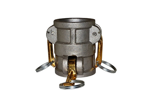 "Camlock - 1-1/2"" Female to 1-1/2"" Female Camlock Adapter - Aluminum - 15CX15C"