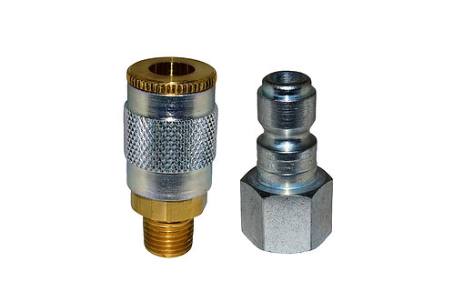 "Automotive Tru-Flate - 1/4"" Female Coupler - 1/4"" Plug - 1/4"" Pipe Threads"