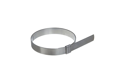 "Preformed Clamp - Smooth ID - 2.5"" (63mm) - 1/2"" Wide - 201 SS - BAND-IT Junior"