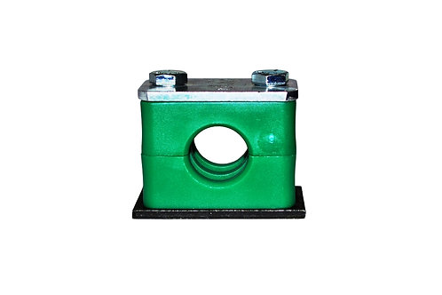 """Hose and Tube Clamp - 3/8"""" Hydraulic Hose - Weld On - Standard Series A2-17.2-A"""