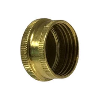 "Garden Hose Fitting - Hose Cap - 3/4"" - Cast Brass"