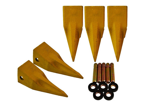 Single Tiger Bucket Teeth - CAT Style - With Pins & Retainers - T1U3352L - 5 PK