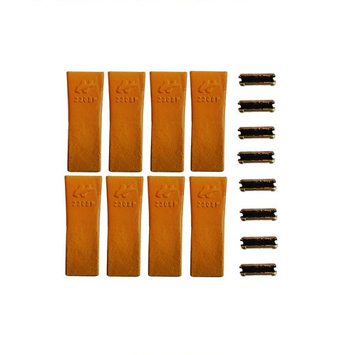 Bucket Tooth - Standard - H&L Style - 230SP - With Flex Pins - 8 Pack