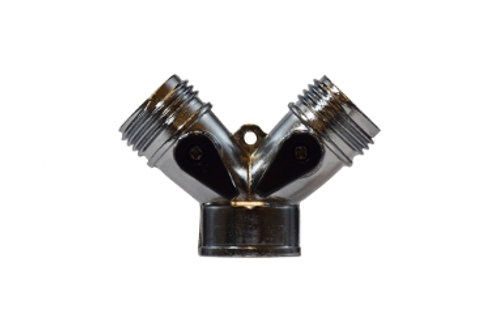 "Garden Hose Fitting - Y Shape Connector - 3/4"" - Two Levers - Zinc Alloy"