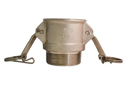 "Camlock - Female Camlock x Male NPT - 1-1/2"" - 316 Stainless Steel - 150B"