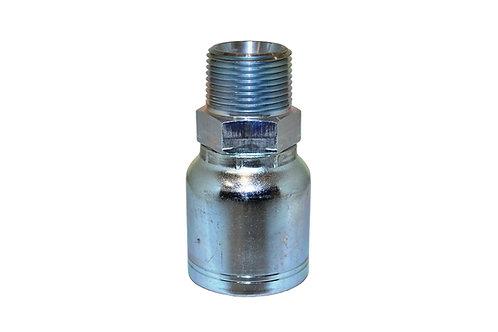 "Hydraulic Crimp Fitting - 1"" Male Pipe Thread x 1"" Hose Barb - E203"