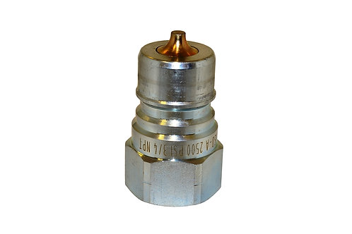 """Hydraulic Quick Coupler - ISO 7241-1 A - 3/4"""" NPT - Male Nipple - 6600 Series"""