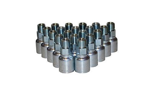 "Hydraulic Crimp Fitting - 3/8"" Male Pipe Thread x 3/8"" Hose Barb - E203 - 20 PK"