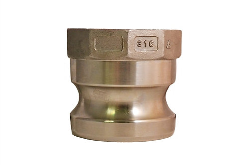 """Camlock - Male Adapter x Female NPT - 1"""" - 316 Stainless Steel - 100A"""