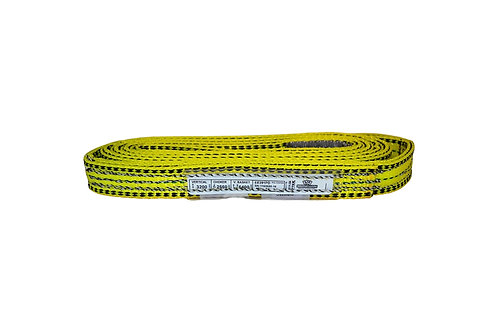 "Lifting Web Sling - 1"" x 12 FT - Two Ply - Flat Eye - Type 3 - Polyester"