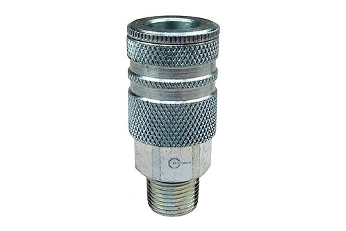 "Industrial Interchange - 3/8"" Coupler - 3/8"" Male Pipe Threads"