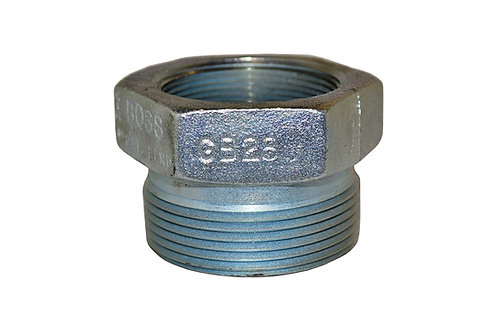 """Female Spud - Ground Joint - 2"""" - Plated Iron - Boss - GB28"""