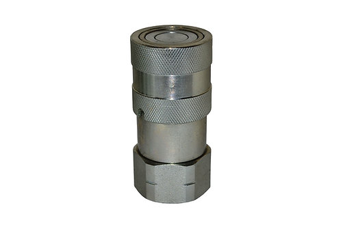 "Hydraulic Quick Coupler - ISO 16028 Flat Face - Female - 1/2"" Coupler x 3/4"" ORB"